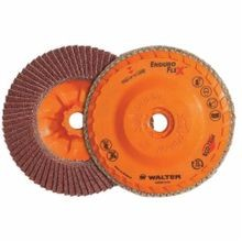 Walter Surface Technologies Enduro-Flex 06B454 Spin-On Coated Flap Disc, 4-1/2 in Dia, 5/8-11, 40/Coarse, Zirconia Alumina Abrasive, Type 27S