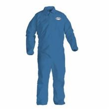 KleenGuard* 45007 A60 Chemical Resistant Disposable Coverall, 4XL, Blue, SMS Fabric, 32-3/4 in Chest, 42 in Inseam