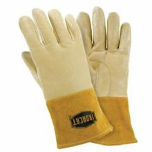 Ironcat 6020/L Welding Gloves, L, Off-White, Straight Thumb, Grain Pigskin Leather