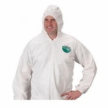 Lakeland TG414-4X Disposable Coverall 4XL White MicroMax, 60 to 62 in Chest, 29 in Inseam
