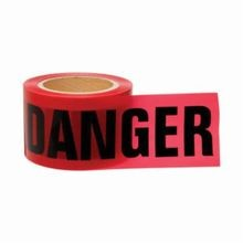 Brady 91200 Light Weight Non-Adhesive Standard Barricade Tape, DANGER, 3 in W x 200 ft L, Black on Red, Polyethylene