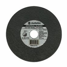 metabo 655331000 Original Slicer Cut-Off Wheel, 4-1/2 in Dia x 0.04 in THK, 7/8 in Center Hole, 60 Grit, Aluminum Oxide Abrasive