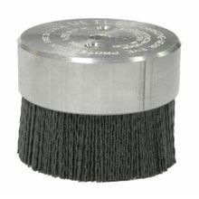 Burr-Rx 86111 Maximum Density Miniature Disc Brush, 3 in Dia, 0.055 in Ceramic Crimped/Round/Straight Wire