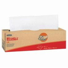 WypAll* 05843 L30 Disposable Wiper, Cellulose, White