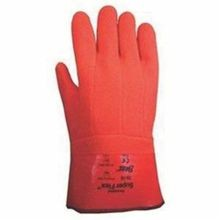 Showa Best 75-10 Supported Chemical Resistant Gloves, L/SZ 10, Orange, Vinyl
