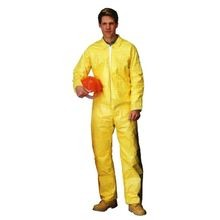 Lakeland C5412-4X Chemical Resistant Coverall, 4XL, 60 - 62 in Chest, 29 in Inseam, Yellow
