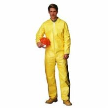 Lakeland C5412-4X Chemical Resistant Coverall 4XL Yellow ChemMax 1 (Polyethylene Barrier Film/Non-Woven Filament), 60 to 62 in Chest, 29 in Inseam