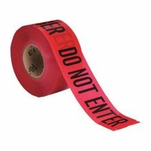 Brady 102824 Light Weight Non-Adhesive Standard Barricade Tape, DANGER DO NOT ENTER, 3 in W x 1000 ft L, Black on Red, Polyethylene