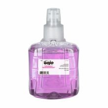 GOJO 1912-02 LTX-12 Antibacterial Handwash With Skin Moisturizers, 1200 mL, Dispenser Refill, Foam, Plum Citrus, Clear/Purple