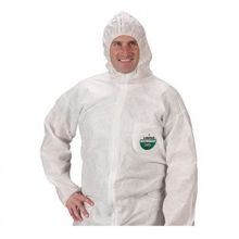 Lakeland C8428 Disposable Coverall, XL, 48 to 50 in Chest, 29 in Inseam, White