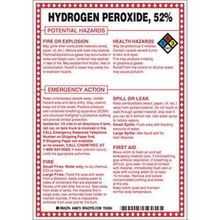 Brady 48873 Hazardous Material Sign, 10 in H x 7 in W, Black/Red/Blue/Yellow on White, B-120 Premium Fiberglass