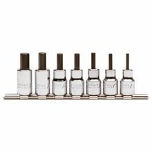 Proto J4990-7ST Socket Bit Set, Imperial, 1/8 to 3/8 in Hex, 3/8 in Drive, 7 Pieces, Full Polished