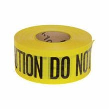 Brady 91102 Reinforced Barricade Tape, CAUTION DO NOT ENTER, 3 in W x 500 ft L, Black on Yellow