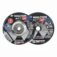 Walter Surface Technologies Zip 11T142 Type 27 Cut-Off Wheel, 4-1/2 in Dia x 3/64 in THK, 7/8 in, A60ZIP Grit, Aluminum Oxide Abrasive