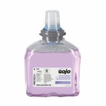 GOJO 5361-02 TFX Premium Handwash With Skin Conditioners, 1200 mL, Dispenser Refill, Foam, Cranberry/Fruity, Clear/Purple