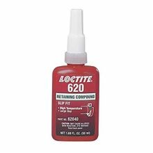 Loctite 62040 620 High Temperature Retaining Compound, 50 mL Bottle, Liquid, Green, 1.1599999999999999