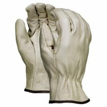 Memphis 3402-XL Economy Grade Drivers Gloves, XL, Grain Pigskin Leather Palm, Beige, Gunn Cut/Standard Finger/Straight Thumb, Cotton Thread/Leather/Polyester