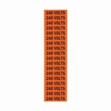 Brady CleanLift 44310 C Style Rectangular Self-Adhesive Conduit and Voltage Marker Label, 2-1/4 in W x 1/2 in L, Black Legend, Black on Orange Background, B-498 Vinyl Coated Fabric