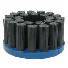 Nylox 85826 Composite Back Disc Brush, 4 in Dia, 7/8 in, Silicon Carbide Crimped/Rectangle/Straight Wire