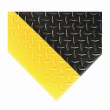 NoTrax 419S0036BY Sof-Tred 419 Rectangle Anti-Fatigue Floor Mat, 3 ft W x 6 ft L, 1/2 in THK, Black/Yellow, PVC Sponge
