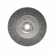Weiler 00154 Narrow Face Wire Wheel Brush With Arbor Hole, 4 in Dia x 1/2 in W, 1/2 to 3/8 in, 0.006 in Crimped Wire
