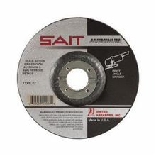 SAIT 20098 Depressed Center Wheel, 9 in Dia x 1/4 in THK, 5/8-11, A46N Grit, Aluminum Oxide Abrasive