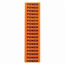 Brady CleanLift 44332 C Style Rectangular Self-Adhesive Conduit and Voltage Marker Label, 2-1/4 in W x 1/2 in L, Black Legend, Black on Orange Background, B-498 Vinyl Coated Fabric