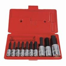 Proto J4900A Socket Bit Set, Imperial, 1/8 to 5/8 in Hex, 3/8 in, 1/2 in Drive, 10 Pieces, Black Oxide