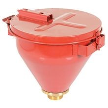 VESTIL DF-S Steel Drum Funnel with Self Closing Lid, 18-1/8