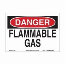 Brady 116156 Eco-Friendly Rectangular Danger Sign, 10 in H x 14 in W, Black/Red on White, Corner Hole Mount, B-563 Polypropylene