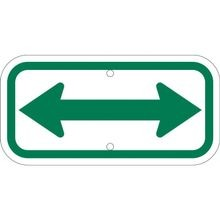 Brady 113316 Rectangular Parking Sign, 6 in H x 12 in W, Green on White, B-959 Aluminum