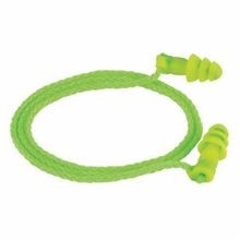 Moldex 6455 Jetz Corded Multiple Use Reusable Ear Plug, Universal, 27 dB, Flange, Green