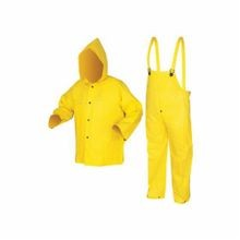 River City 3003L Wizard Cyclone 3003 3-Piece Limited Flammability Rainsuit, L, Yellow, Nylon/PVC, 54 in Chest
