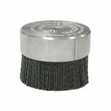 Nylox Burr-Rx 86109 Miniature Disc Brush, 3 in Dia, 0.026 in Black Ceramic Crimped/Round/Straight Wire