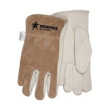 Memphis 3204 Premium Grade Drivers Gloves L Grain Cow Skin Leather Palm Beige Kevlar Thread/Leather
