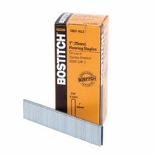 Bostitch SB97-1GLS Staples, Chisel Point, 3/16 in Crown Width, 1 in Leg Length, Galvanized Steel