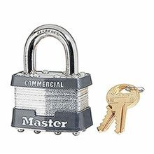 Master Lock 21 Rekeyable Safety Padlock, Keyed Different Key, 5/16 in Shackle, Laminated Steel Body