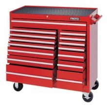 Proto J444142-15RD 440SS Standard Duty Mobile Work Station, 41 in L x 41-1/2 in W x 42 in H, 1800 lb Load, Red