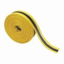 Brady 91176 Horizontal Stripe Barricade Tape, Horizontal Warning Stripes, 2 in W x 200 ft L, Black on Yellow, Polypropylene