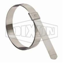 Dixon The Right Connection KS8 Buckle Locking Hose Clamp, 2 in ID, 0.03 in THK, Stainless Steel