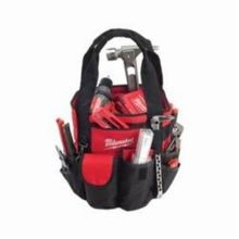 Milwaukee 49-17-0180 Bucket Less Heavy Duty Open Tool Carrier, 18 in H x 12 in W x 18 in D, 50 Pockets, Denier Ripstop Polyester, Red