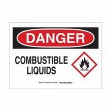 Brady 131808 Laminated Rectangular Danger Sign, 10 in H x 14 in W, Black/Red on White, Self-Adhesive Mount, B-302 Polyester