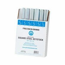 Precision Brand 14680 Square Keystock Assortment, 32 Pieces, Steel, Zinc Plated