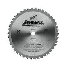 Milwaukee 48-40-4515 Circular Saw Blade, 8 in Dia x 0.073 in THK, 5/8 in Arbor, Hardened Steel Blade, 42 Teeth