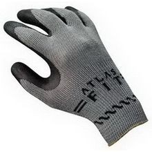 Atlas Fit 300 Dipped Palm Flat Dipped Coated Gloves, L, Natural Rubber Palm, Black