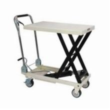 JET 140771 Scissor Lift Table With Folding Handle, 330 lb Load, 27-1/2 in L x 17-3/4 in W, 8-5/8 in Lowered
