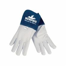 Memphis 4850L Gloves for Glory 4850 Premium Grade Welding Gloves, L, Grain Cow Skin Leather Palm, White, Standard Finger, Straight Thumb, Top Grain Goat Skin Leather