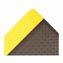 NoTrax 979S0042YB Saddle Trax 979 Rectangle Anti-Fatigue Floor Mat, 2 ft W x 4 ft L, 1 in THK, Black/Yellow, Vinyl