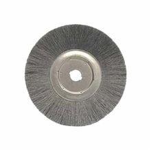 Weiler 01339 Narrow Face Wire Wheel Brush, 15 in Dia x 3/4 in W, 1-1/4 in, 0.0118 in Crimped Wire