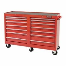 Proto J445442-14RD 440SS Standard Duty Mobile Work Station, 54 in L x 54 in W x 42 in H, 1600 lb Load, Red
